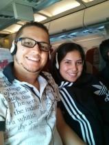 Voando para Santiago